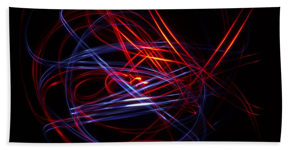 Light Painting Bath Sheet featuring the photograph Light Painting 1 by Shannon Louder