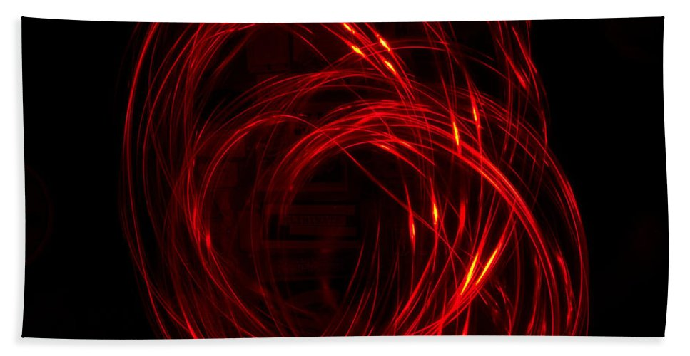 Light Painting Hand Towel featuring the photograph Light Painting 2 by Shannon Louder