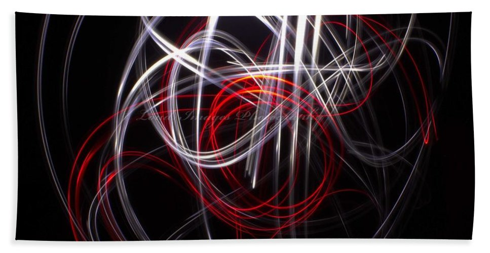 Light Painting Hand Towel featuring the photograph Light Painting 3 by Shannon Louder
