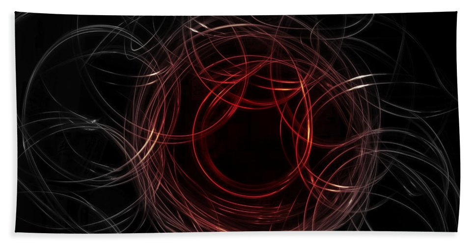 Light Painting Hand Towel featuring the photograph Light Painting 4 by Shannon Louder