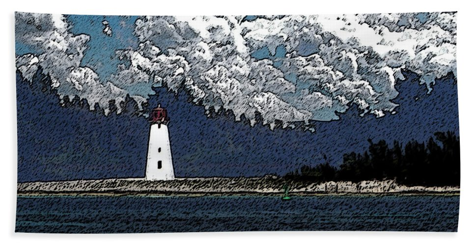 Nassau Bahamas Bath Sheet featuring the photograph Lighthouse by Aimee L Maher ALM GALLERY