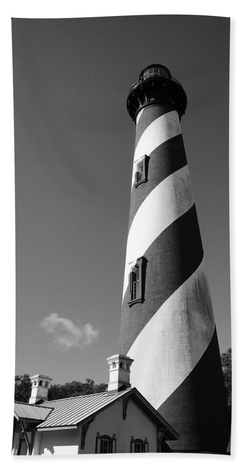 St Augustine Bath Sheet featuring the photograph Lighthouse by Brandon Addis