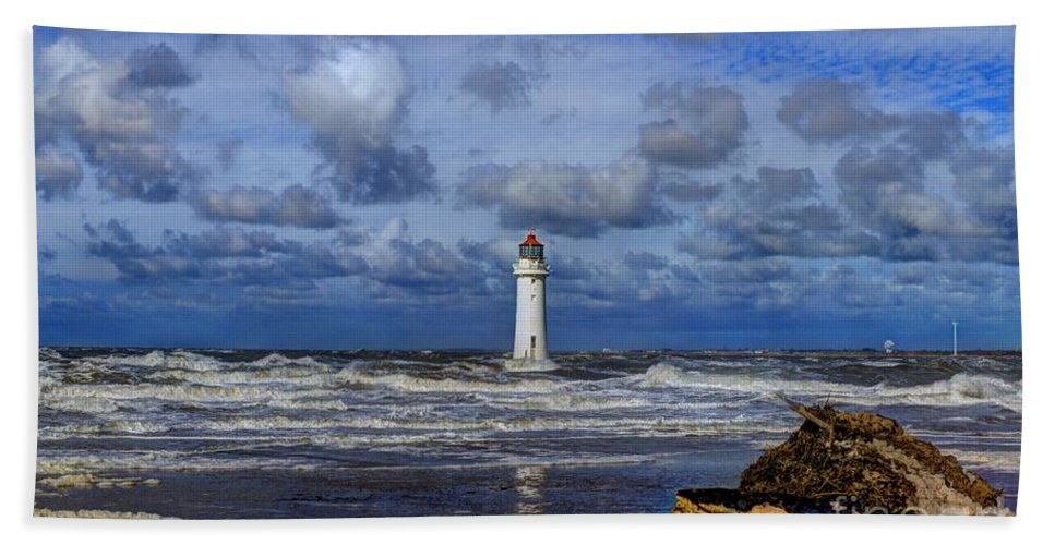Lighthouse Hand Towel featuring the photograph Lighthouse by Spikey Mouse Photography