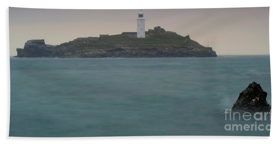 Lighthouse Bath Sheet featuring the photograph Lighthouse by Jenny Potter