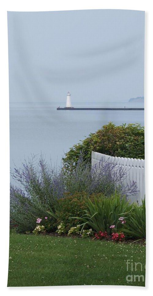 Sodus Bay Bath Sheet featuring the photograph Lighthouse Sodus Bay New York by Jennifer Craft