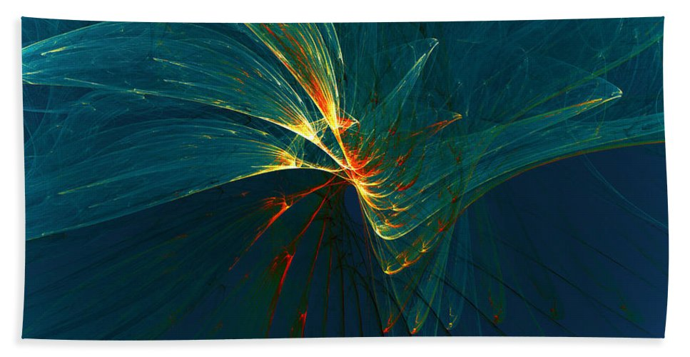 Flower Hand Towel featuring the digital art Lightness by Klara Acel