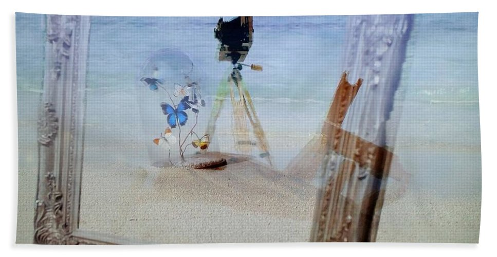 Old Camera Bath Sheet featuring the photograph Lights Butterflies Sand And Surf by Rob Hans