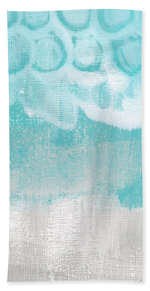 Abstract Hand Towel featuring the painting Like A Prayer- Abstract Painting by Linda Woods