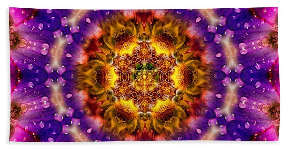Sacred Bath Sheet featuring the photograph Sacred G Mandala 2 by Richard Copeland