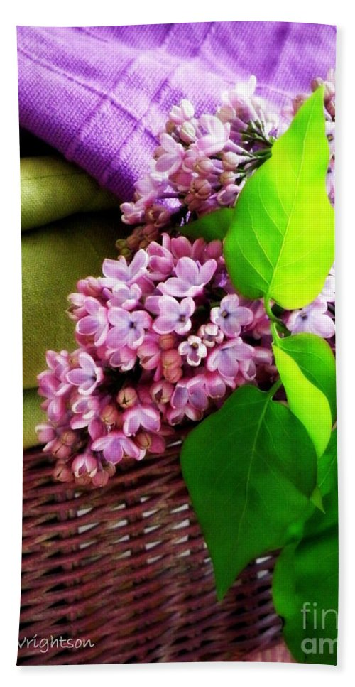 Lilac Hand Towel featuring the photograph Lilac Still Life by Lainie Wrightson