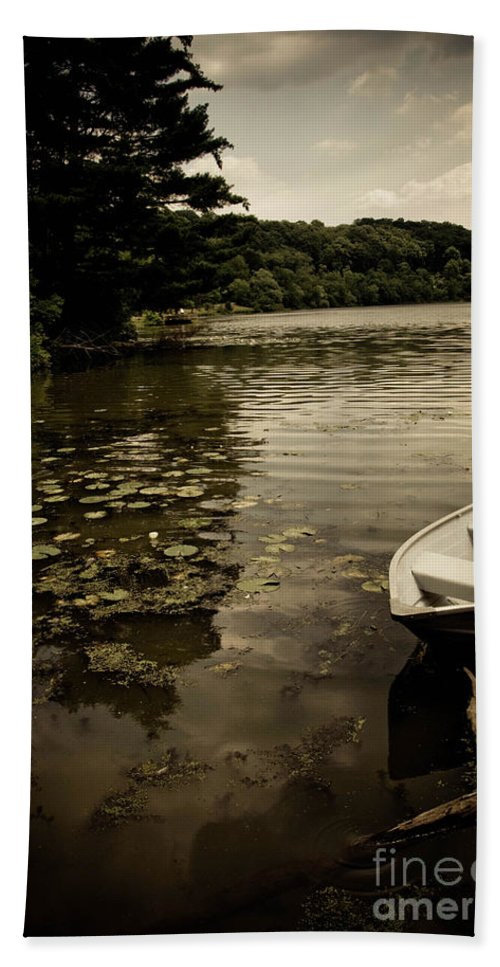 Allegheny County Hand Towel featuring the photograph Lilypads In The Lake by Amy Cicconi