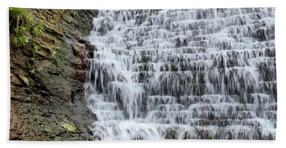 Dam Hand Towel featuring the photograph Limestone Falls 2 by Bonfire Photography