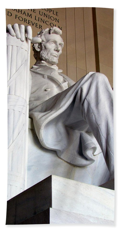 Abraham Lincoln Bath Sheet featuring the photograph Lincoln II by Elizabeth Dow