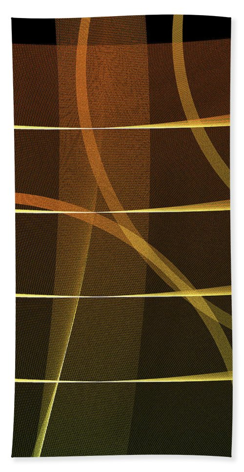 Lines Hand Towel featuring the digital art Lines And Shadows by Raul Castillo