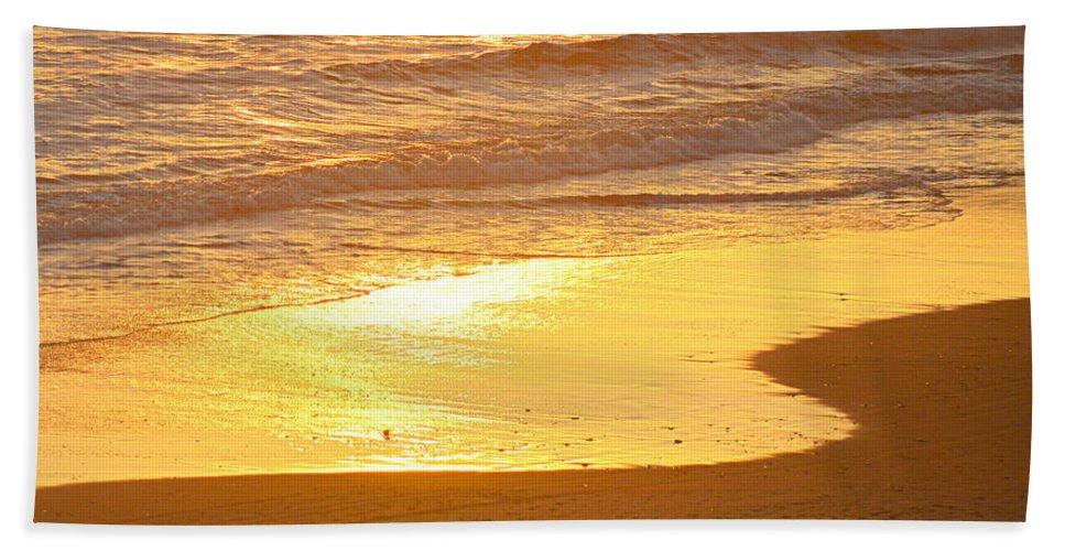Scenic Hand Towel featuring the photograph Liquid Sun by AJ Schibig