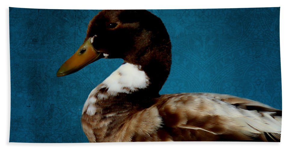 Duck Hand Towel featuring the photograph Little Brown Duck by Sylvia Thornton