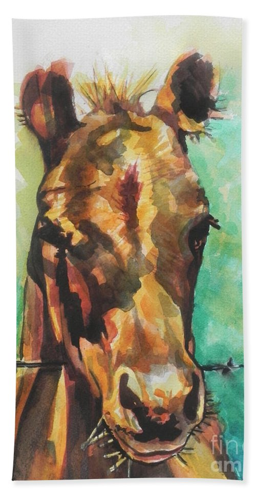 Watercolor Painting Hand Towel featuring the painting Little Cookie  by Chrisann Ellis