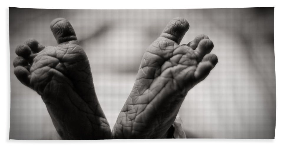 3scape Photos Hand Towel featuring the photograph Little Feet by Adam Romanowicz