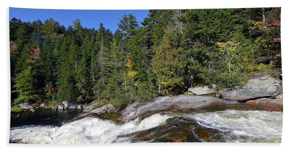 Landscape Bath Sheet featuring the photograph Little Niagara 5295 by Terri Winkler