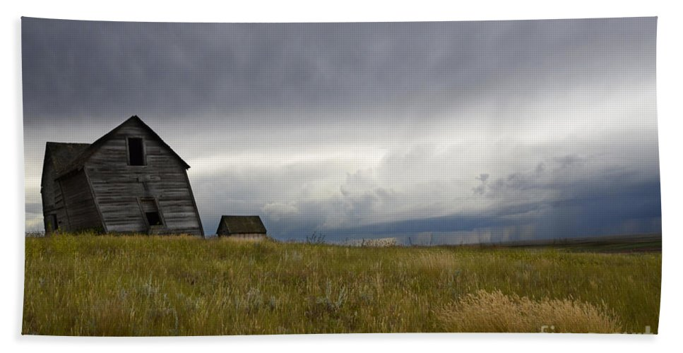 Homestead Hand Towel featuring the photograph Little Remains by Bob Christopher