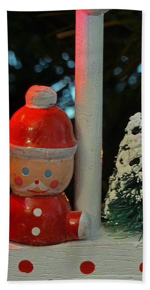 Little Santa Hand Towel featuring the photograph Little Santa by Bill Owen