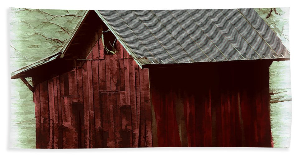 Shack Hand Towel featuring the photograph Little Shack by Ericamaxine Price