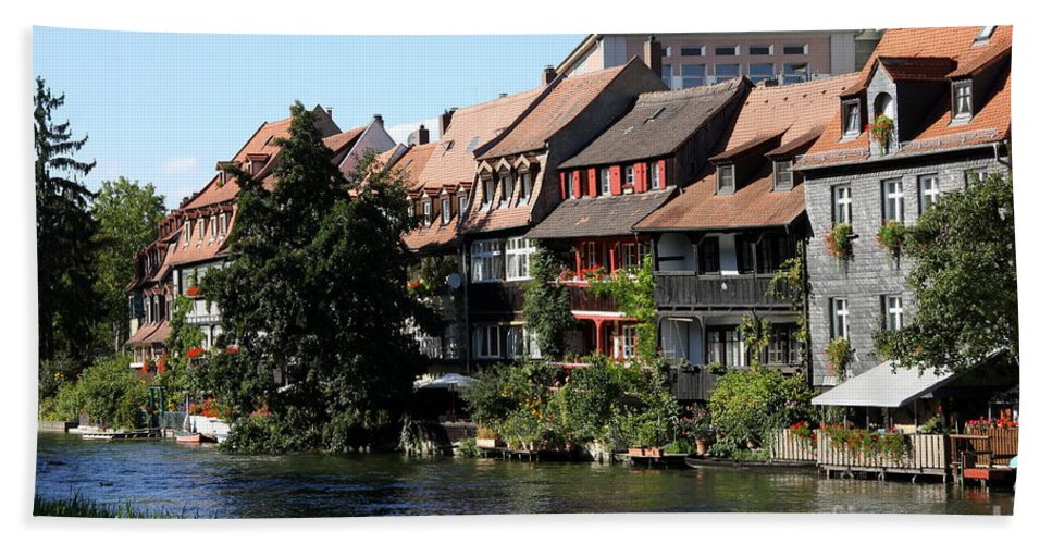 Little Venice Hand Towel featuring the photograph Little Venice - Bamberg - Germany by Christiane Schulze Art And Photography