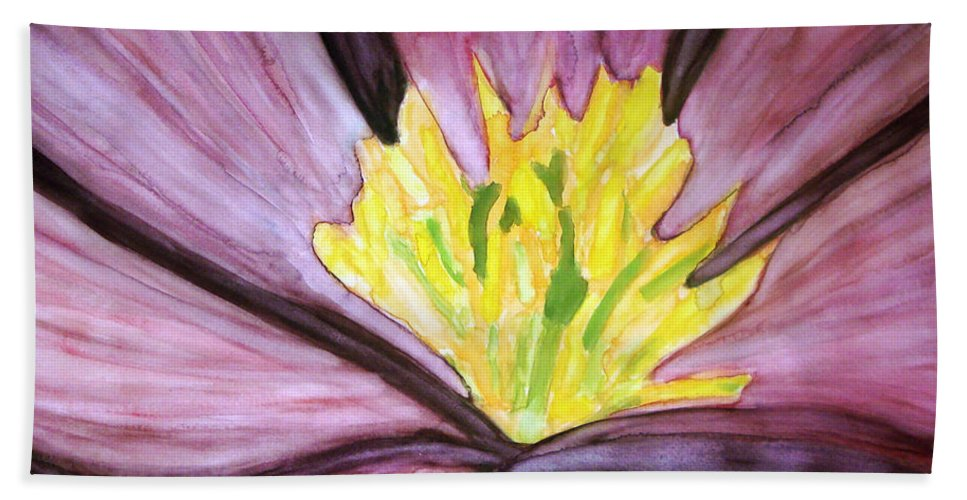 Water Color Flower Painting Bath Sheet featuring the painting Live Your Life To The Fullest Potential by Yael VanGruber