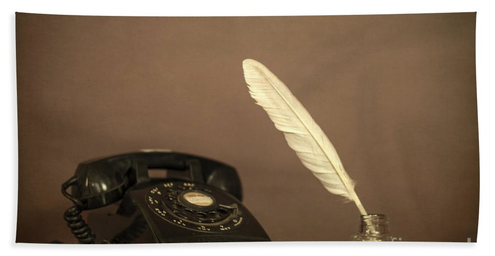 Telephone Hand Towel featuring the photograph Lived To Tell by Evelina Kremsdorf