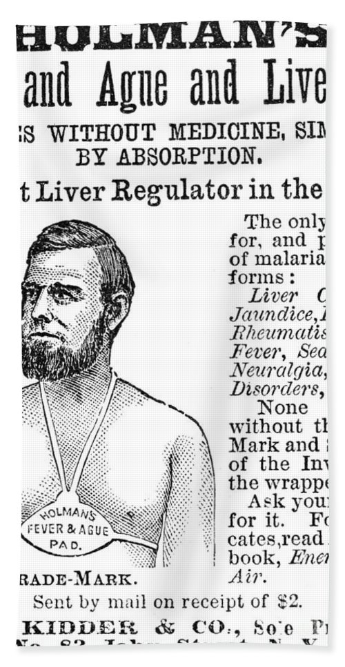 1876 Bath Sheet featuring the photograph Liver Pad Advertisement by Granger