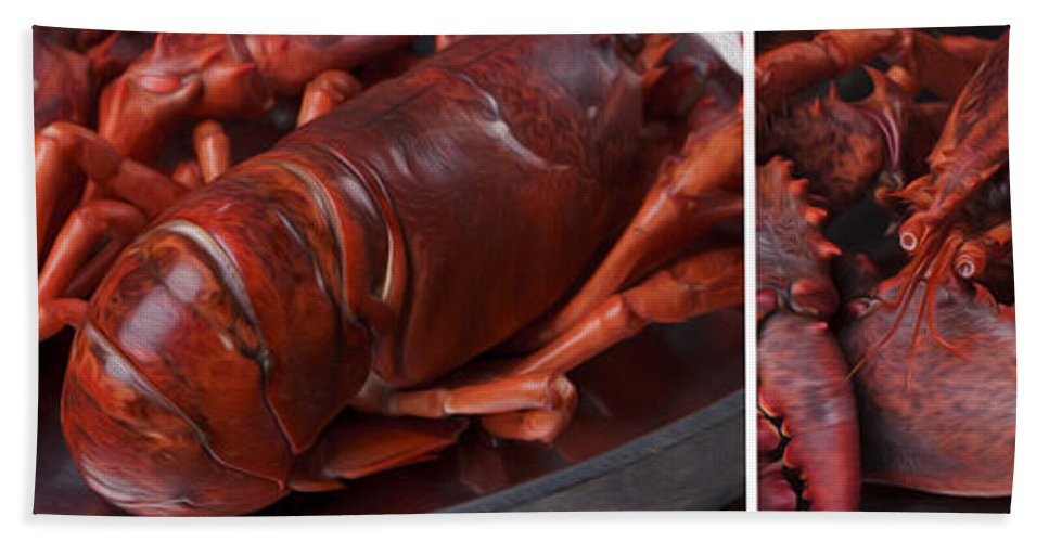 Panorama Bath Sheet featuring the photograph Lobster by Nailia Schwarz