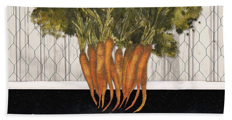 Vegetable Bath Towel featuring the digital art Local Grown I by Elizabeth Medley
