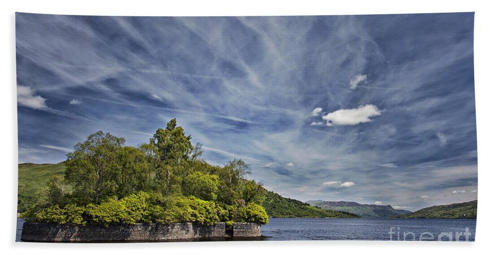 Factors Isle Hand Towel featuring the photograph Loch Katrine Landscape by Sophie McAulay
