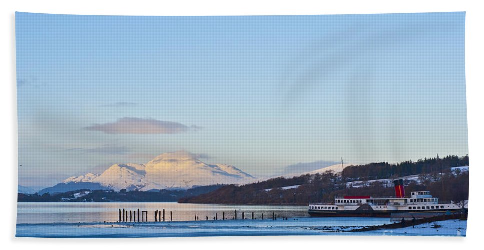 Paddle Bath Sheet featuring the photograph Loch Lomond 02 by Antony McAulay