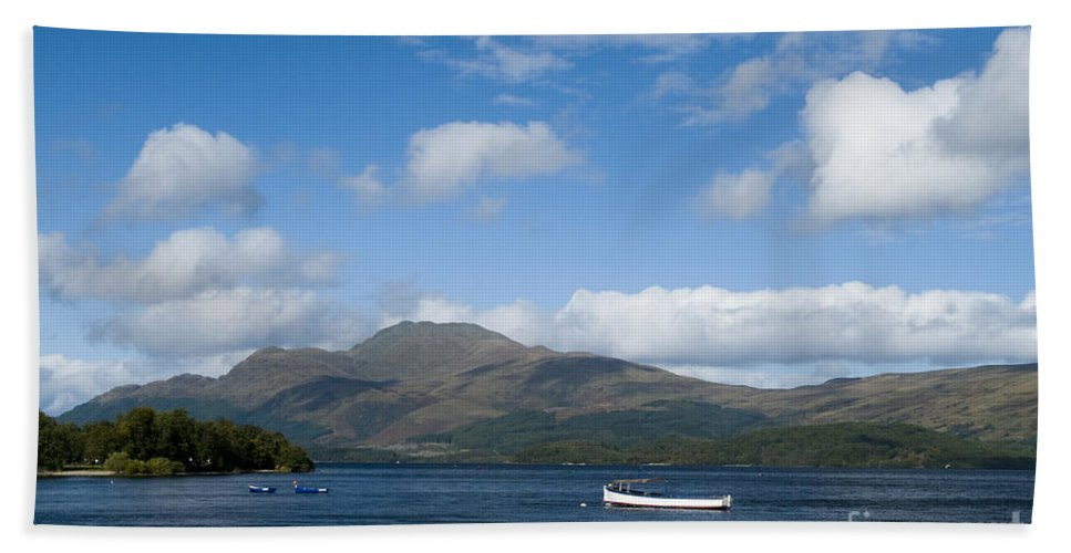 And Bath Sheet featuring the photograph Loch Lomond by Anne Gilbert