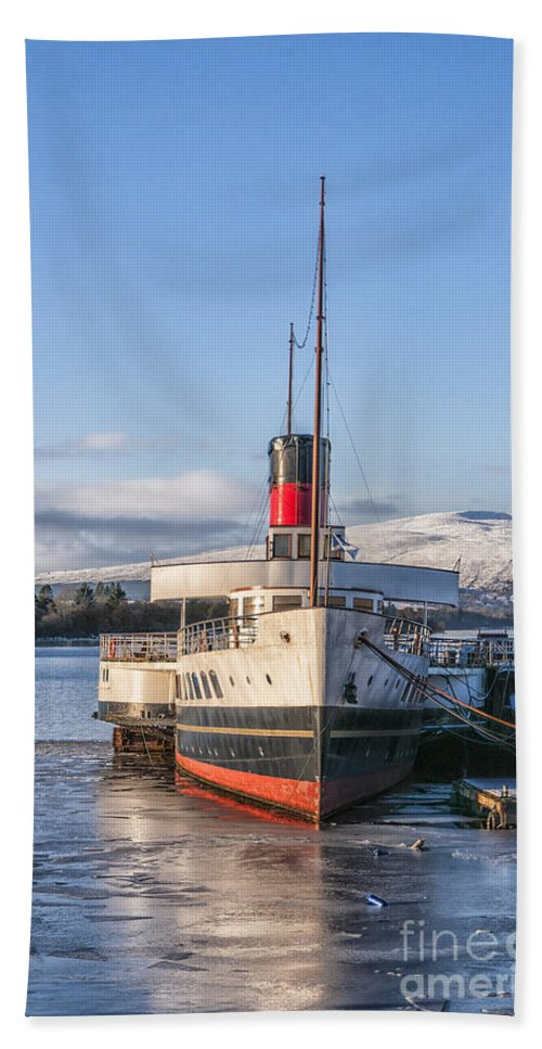 Lake Bath Sheet featuring the photograph Loch Lomond Paddle Steamer by Antony McAulay