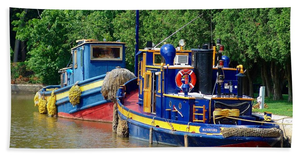 Lock Tugs Hand Towel featuring the photograph Lock Tugs by Eric Swan