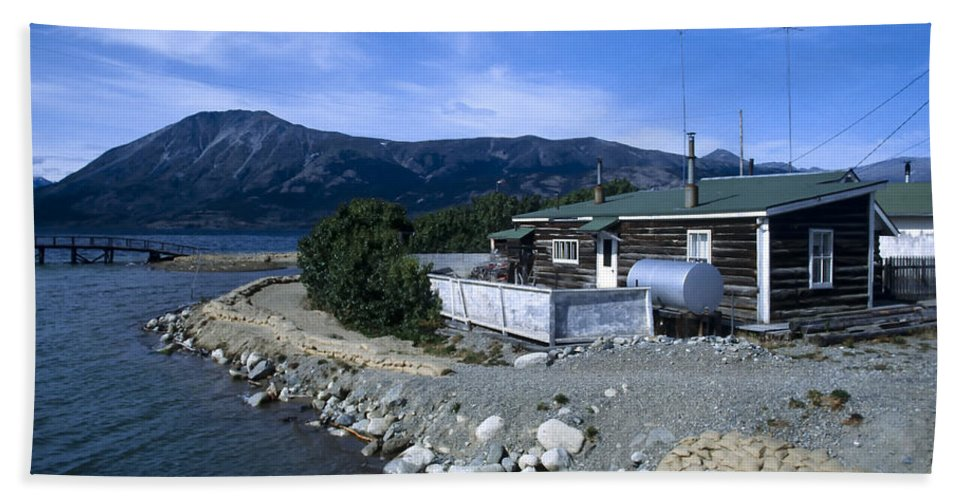 Americas Bath Sheet featuring the photograph Log Cabin In Carcross by Roderick Bley