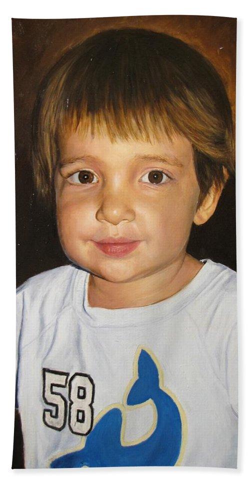 Logan Bath Sheet featuring the painting Logan by Glenn Beasley