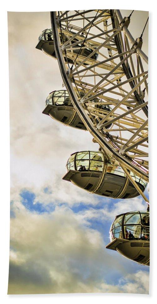London Eye Bath Sheet featuring the photograph London Eye View by Heather Applegate