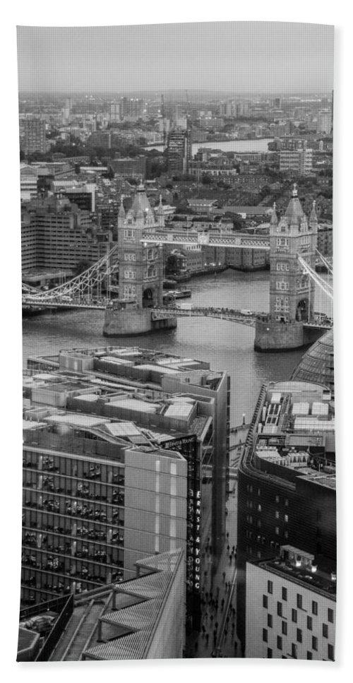 Tower Bridge Bath Sheet featuring the photograph London Skyline by Keith Thorburn LRPS AFIAP CPAGB