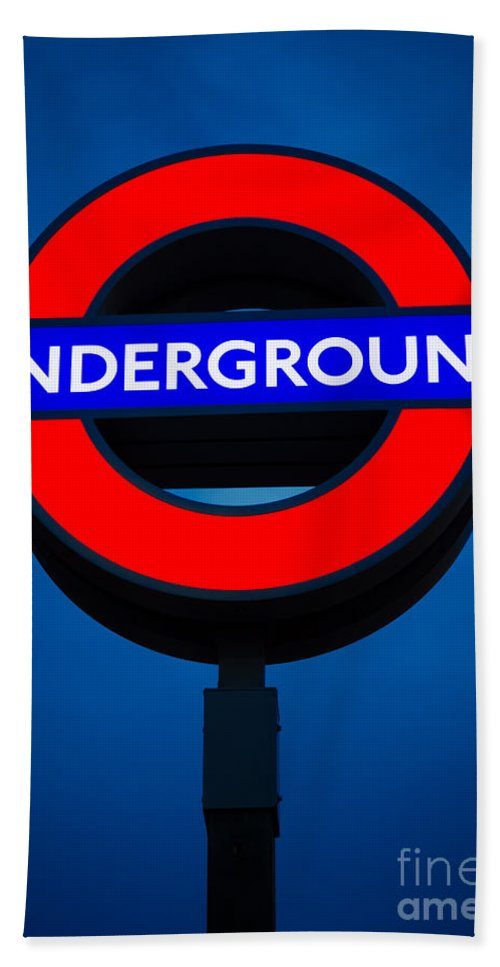 Britain Hand Towel featuring the photograph London Underground by Inge Johnsson