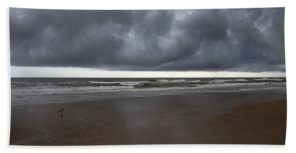 Topsail Bath Sheet featuring the photograph Lone Watcher by Betsy Knapp