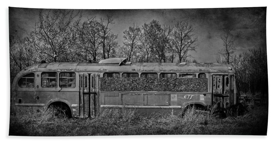 Bus Hand Towel featuring the photograph Lonely Bus by The Artist Project