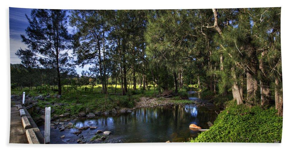 Creek Bath Sheet featuring the photograph Lonely Creek by Darren Burton