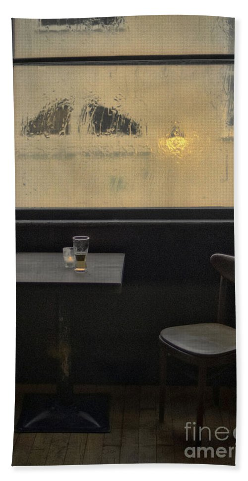 New York Hand Towel featuring the photograph Lonely Bar Scene by Doc Braham