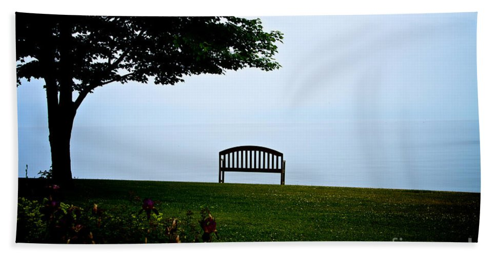 Sodus Bath Sheet featuring the photograph Lonesome Bench by William Norton