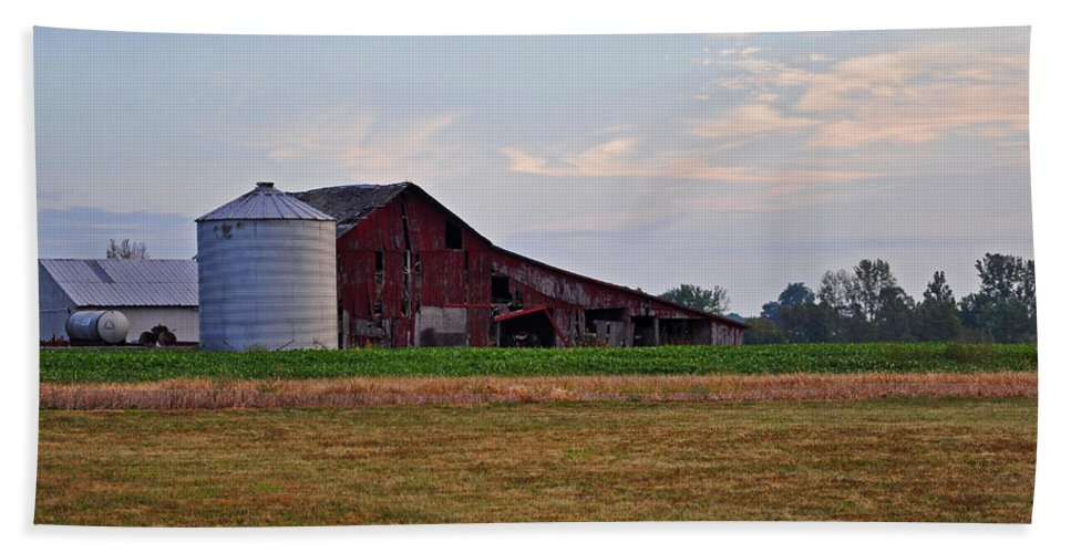 Barn Hand Towel featuring the photograph Long Ago by Brittany Horton