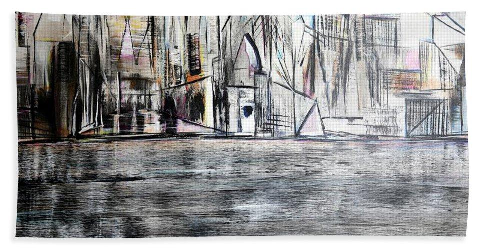 Jack Bath Sheet featuring the painting Long Island Pov 2 by Jack Diamond