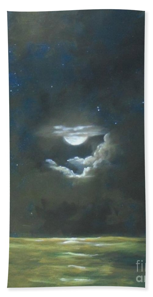 Seascape Hand Towel featuring the painting Long Journey Home by Marlene Book
